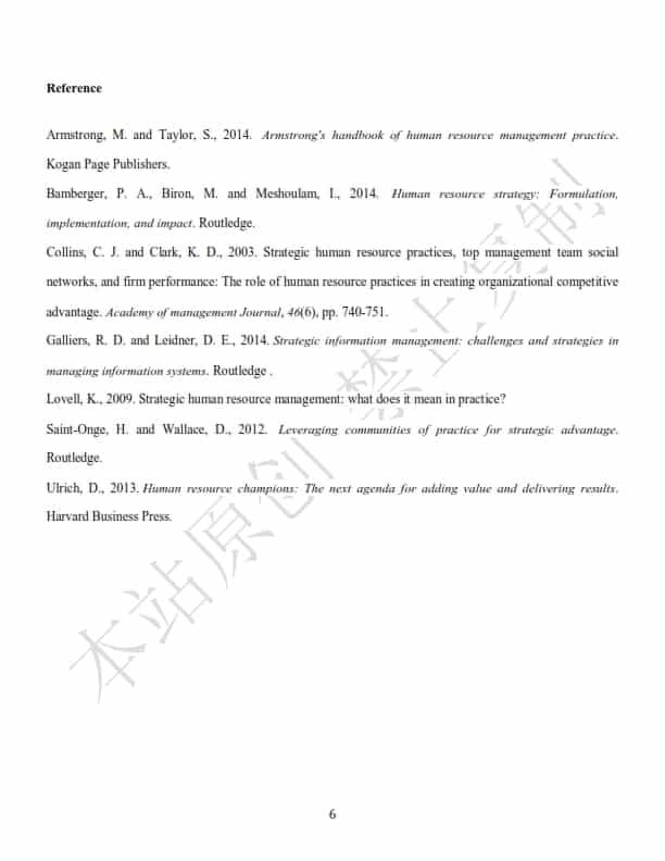 澳洲管理学论文代写样本全文- Page 8 of 8
