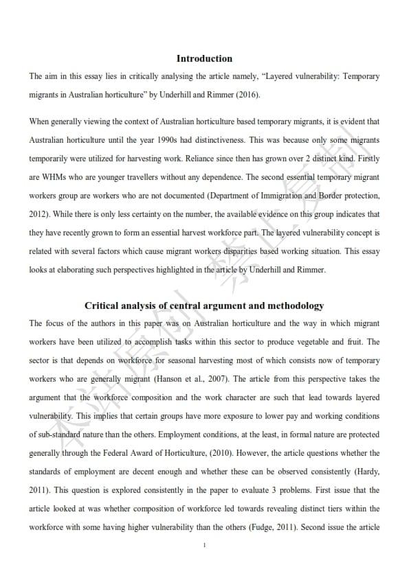 澳洲人力资源管理论文代写样本全文- Page 3 of 9