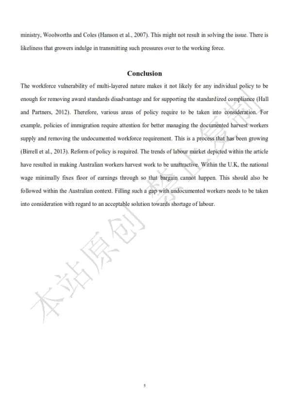 澳洲人力资源管理论文代写样本全文- Page 7 of 9